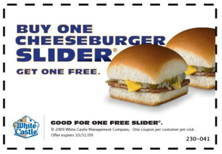 White castle coupons january 2018