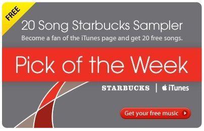 Free 20 Song Starbucks Sampler from iTunes