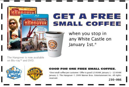 white castle coffee coupon