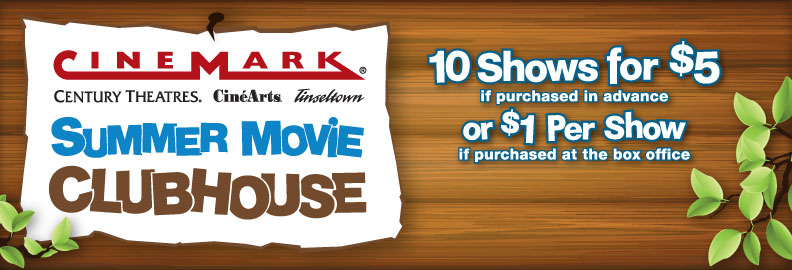 Kids Movies for $1 or Less at Cinemark Theatres This Summer