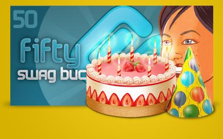Earn 50 Free Swagbucks On Your Birthday