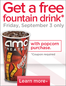 AMC Theaters Coupon Free Drink With Popcorn Purchase
