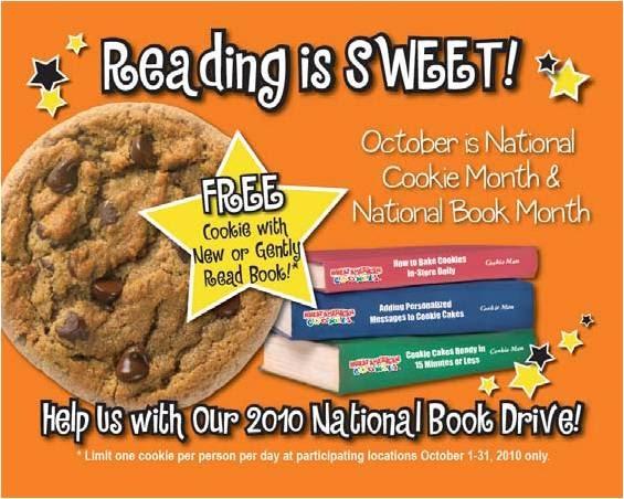 Free Cookie at Great American Cookies (10/1)
