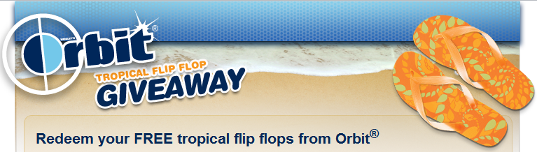 *Expired* Free Pair of Flip Flops with Code from Orbit Gum