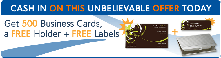 Free business cards archives pocket your dollars 500 free business cards from vistaprint free address labels and business card holder exp reheart Images