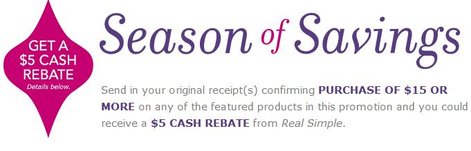 Real Simple: Buy $15 Worth of Participating Products, Get $5 Mail-in Rebate (Exp 12/16)