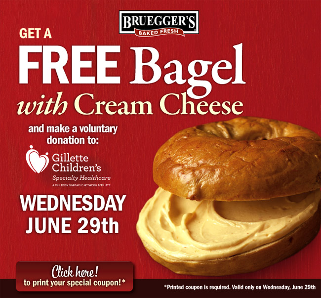 Local Deals: Free Bagel and Cream Cheese at Bruegger's, Enjoy the City Coupon Book + More