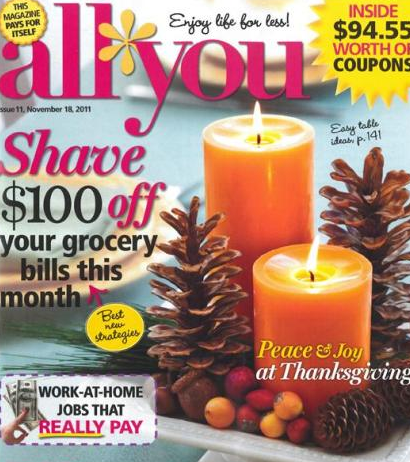 Magazine Deals: All You As Low As $5.66/Year with 52% Cash Back + More