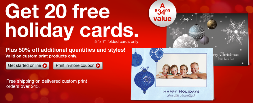 Freebies: 20 Free Custom Cards from Staples, Free Dog Food Sample + More