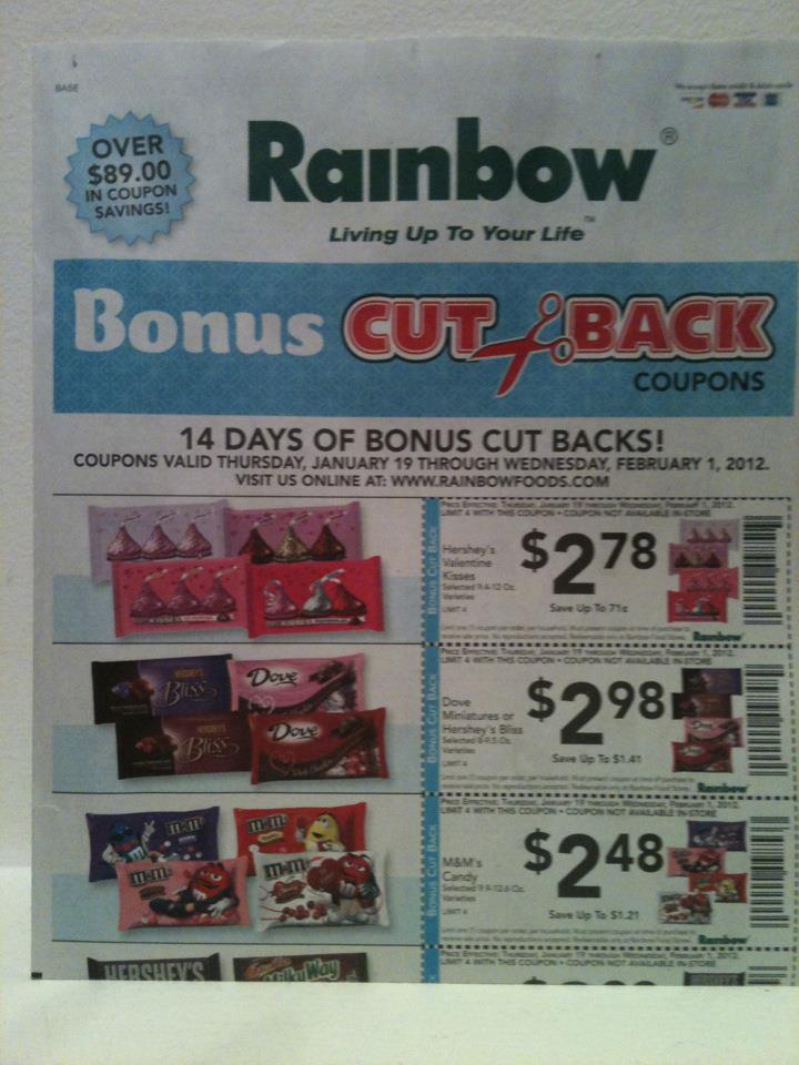 rainbow foods bonus cut back coupon flyer
