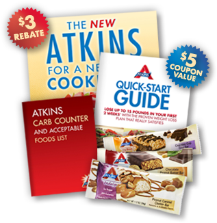 Freebies: Free Atkins Weight Loss Kit, Free Starbucks Tasting, Two Free Samples + More