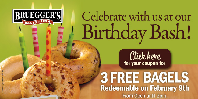 Restaurant Deals: Three Free Bagels at Bruegger's, Free Onion Rings at Burger King + More
