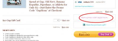 Gap, Old Navy, Banana Republic, Athleta or Piperlime: Spend