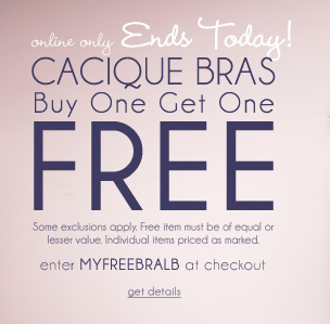 lane bryant buy 1 get 1 free
