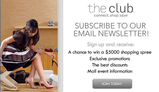 "Sign Up for ""The Club"" at Select Malls to Get Exclusive Offers + $10 for Your Birthday"