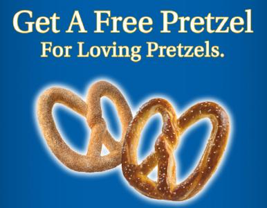 restaurant deals buy 1 get 1 free pretzel at auntie anne s