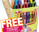 OfficeMax: Free Crayons, Ruler, Sharpener + Many Items for 1Ã' ¢ After MaxPerks Rewards (Exp 8/18)