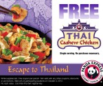 Freebies: Free Panda Express Thai Cashew Chicken, Free K-Cup Sample, Vegetarian eCookbook + More