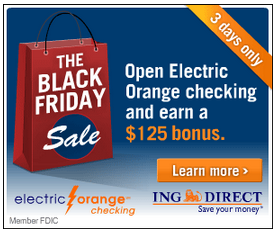 ING Direct Black Friday Sale 2012