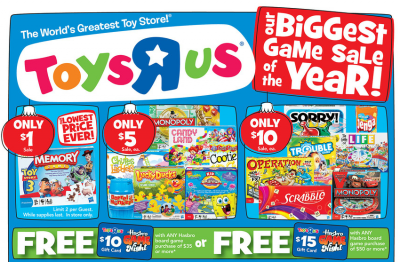 Toys R Us Select Hasbro Games As Low As 2 25 Each
