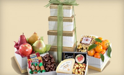 Daily deals holiday gift baskets iphoneipad stand more holiday gift baskets m4hsunfo