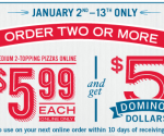 Restaurant Deals: $5 in Domino's Dollars, Free Chili at White Castle + More