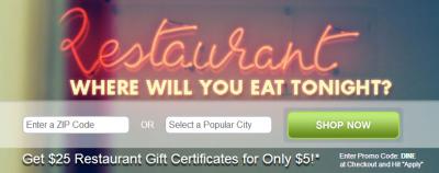 Restaurant.com DINE