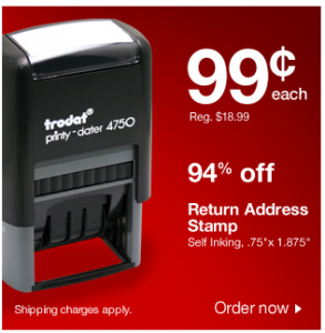 But Here S An Even Easier And Er Solution Get A Self Inking Return Address Stamp For 0 99 Free Shipping From Staples