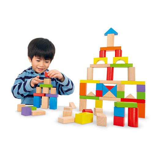 Toys R Us Imaginarium Wooden Blocks 75 Piece Set For 8