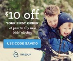 *EXTENDED* thredUP: $10 Off $10+ Purchase for New Customers = Great Deals on Gently Used Kids' Clothes