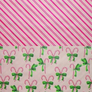 Candy Cane Stripe reversible gift wrap