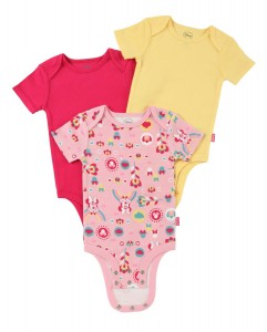 Disney Cuddly Bodysuit with Grow an Inch Snaps, Minnie Mouse Floral Rainbow 3 Pack