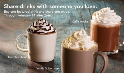 Starbucks Valentine's Day Freebies 2013