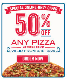Domino's pizza 50 off