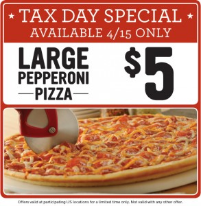 Papa Murphy's Tax Day pizza