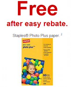 Staples: Free Photo Paper, Copy Paper for 1  ¢ After Easy Rebate/Rewards (Exp 4/6)
