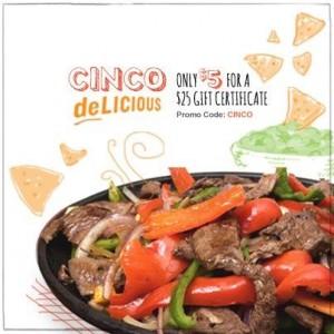 Restaurant.com CINCO