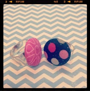 fabric button craft ring Jo-Ann