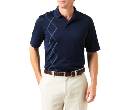 Haggar Cool 18 Polo Vertical  Argyle