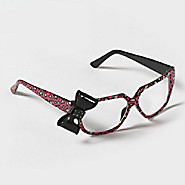 sparkle bow retro frames