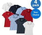 Approved Schoolwear Kids' Short Sleeve Polo, 4 Pack- Boys - Walmart.com