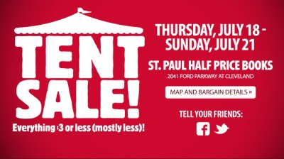 Half Price Books St. Paul Tent Sale
