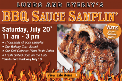 Lunds and Byerly's BBQ Sauce Samplin'
