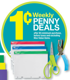 OfficeMax penny deals