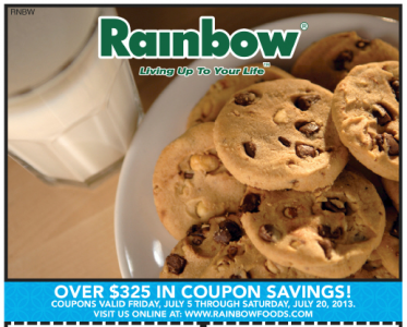 Rainbow Foods coupon book 7.5.13