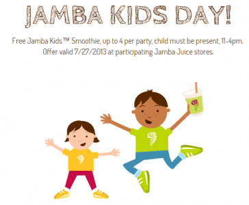 free Jamba Kids smoothie