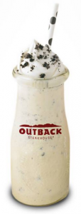 free Oreo mini milkshake Outback Steakhouse