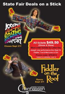 Chanhassen Dinner Theatres State Fair discount