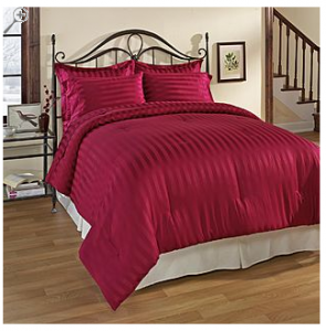 Kmart Essential Home Damask Burgandy Comforter Set - Bed & Bath - Decorative Bedding - Comforters & Sets
