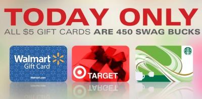 Swagbucks $5 Gift Cards